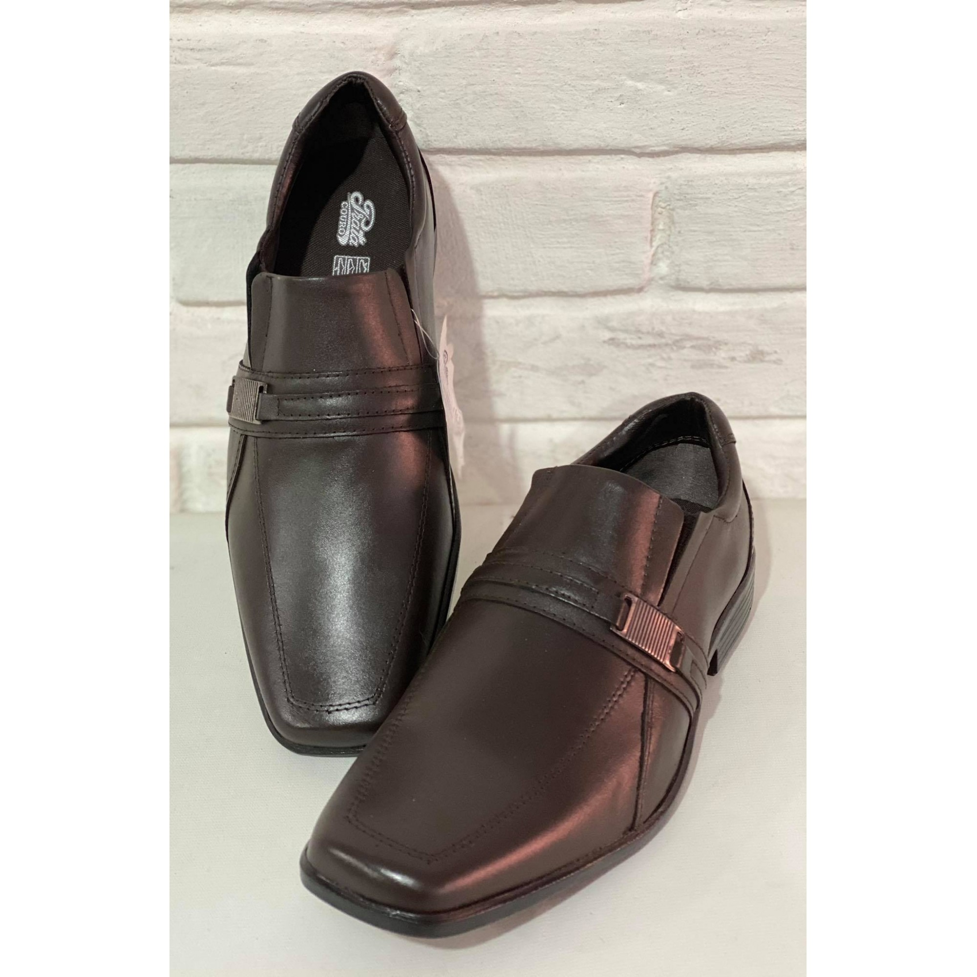 Sapato Masculino Prata Couro 1009831 Café