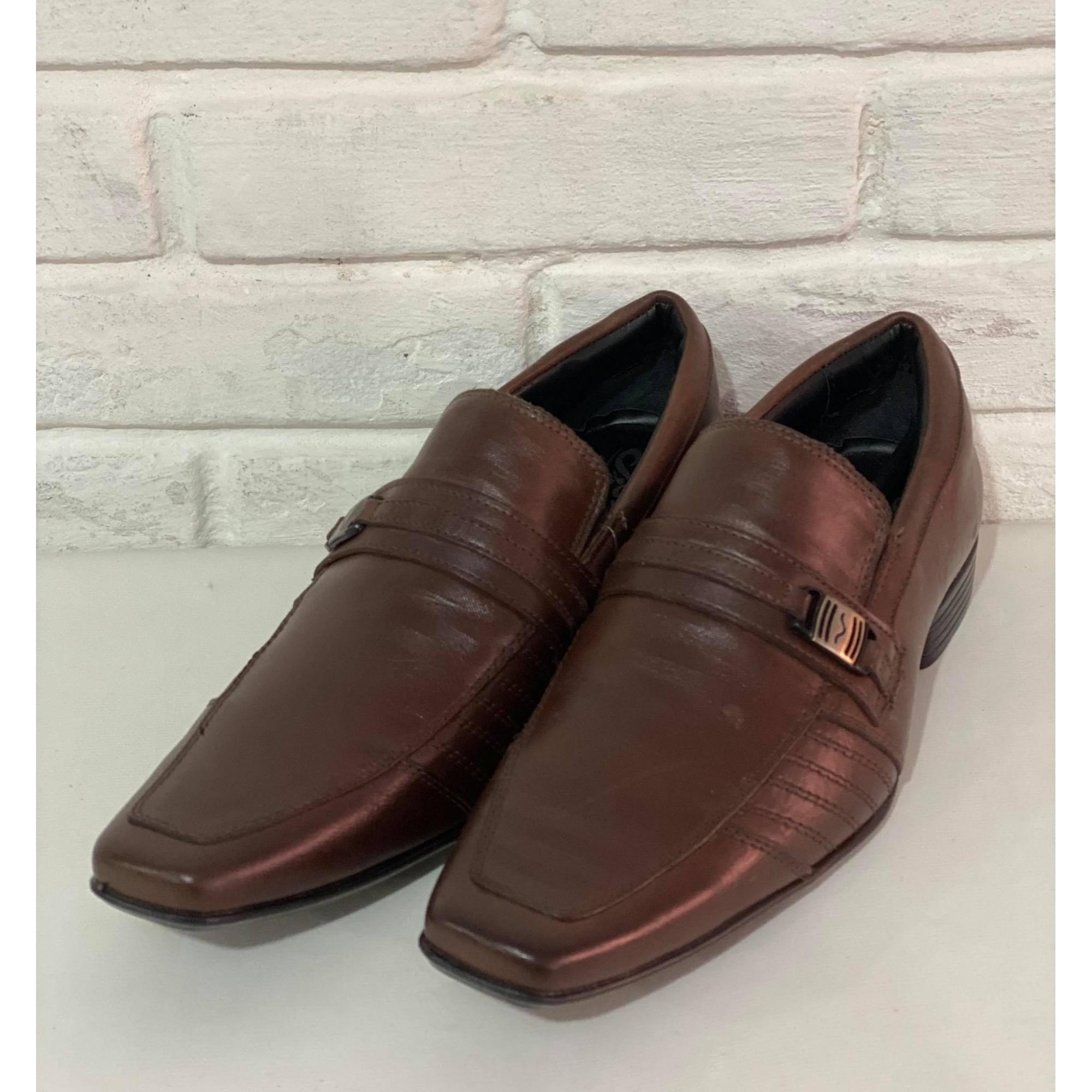 Sapato Masculino Prata Couro 4635 Café