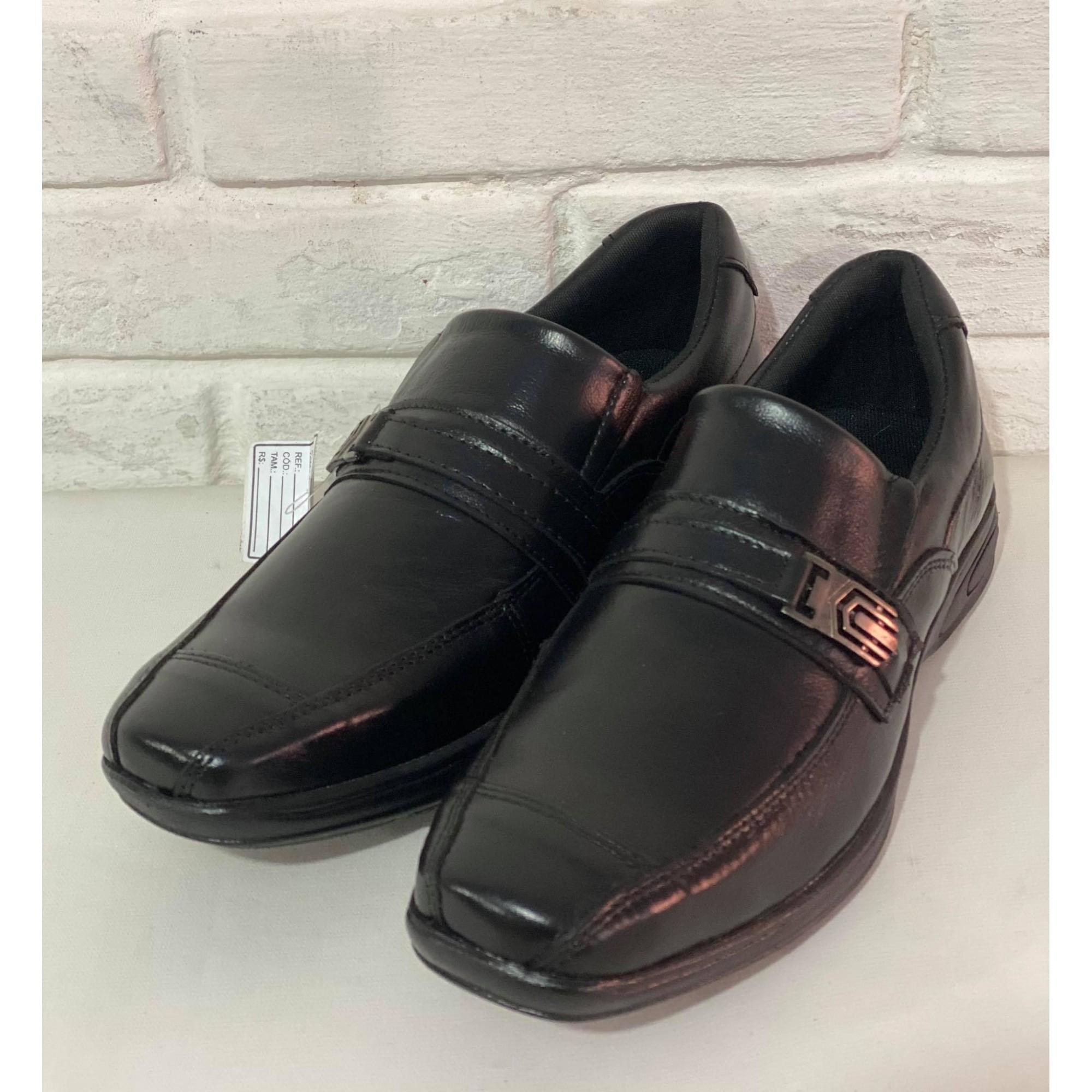 Sapato Masculino Prata Couro Floater Preto 1010238