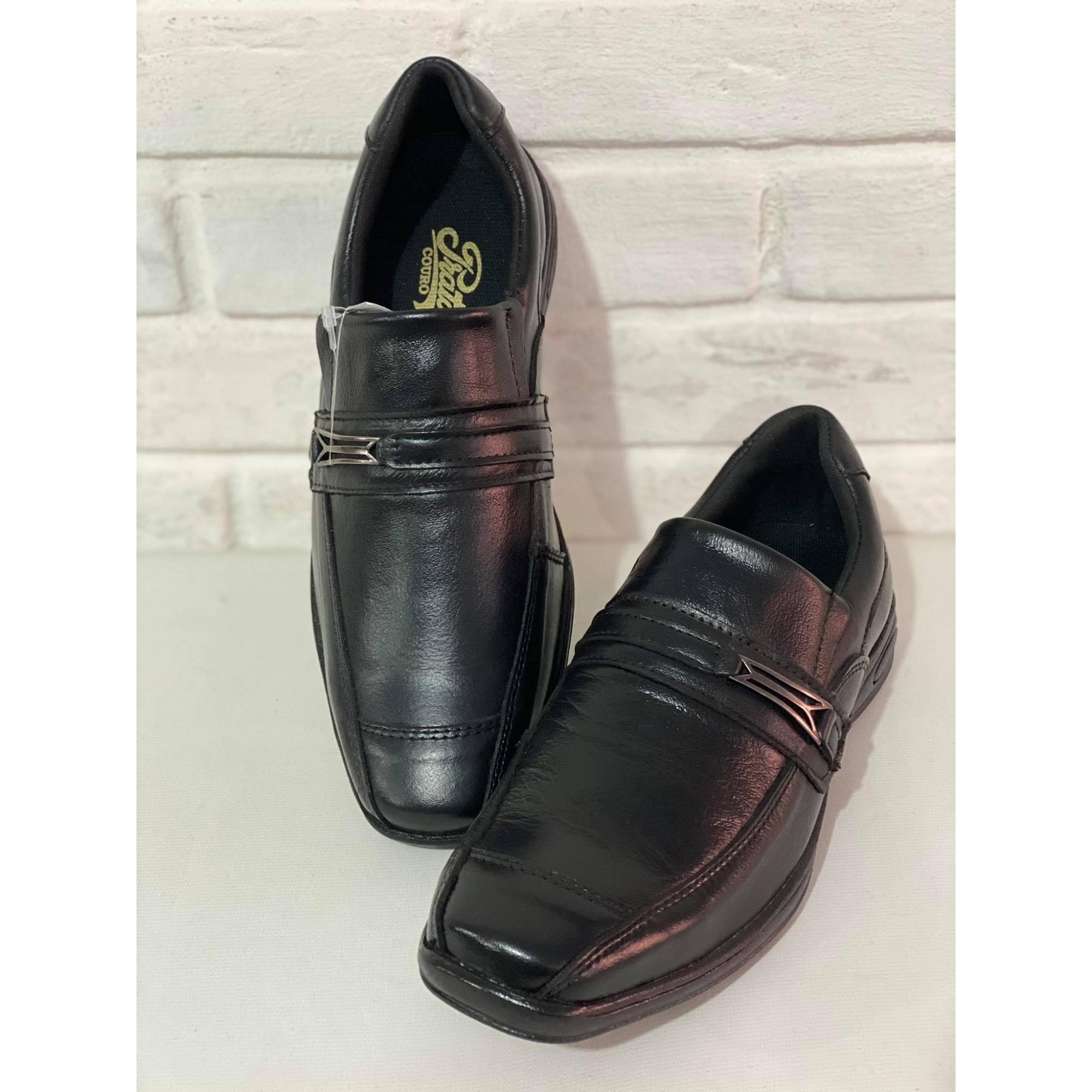 Sapato Masculino Prata Couro Floater Preto 1010240