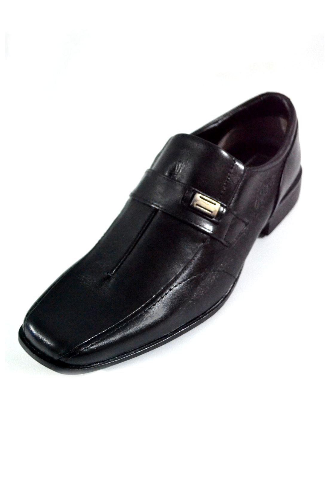 Sapato Prata Couro 1009476 Mestiço Preto