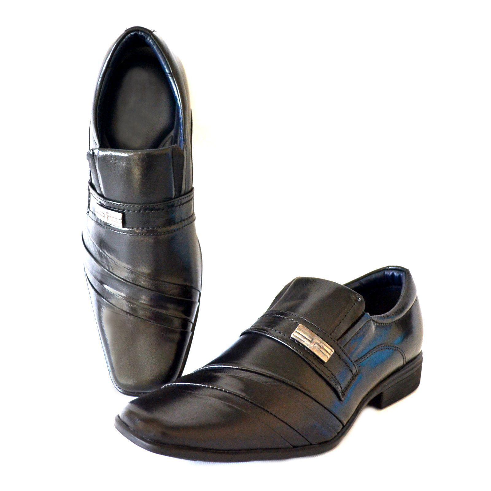 Sapato Prata Couro 1009478 Mestiço Preto