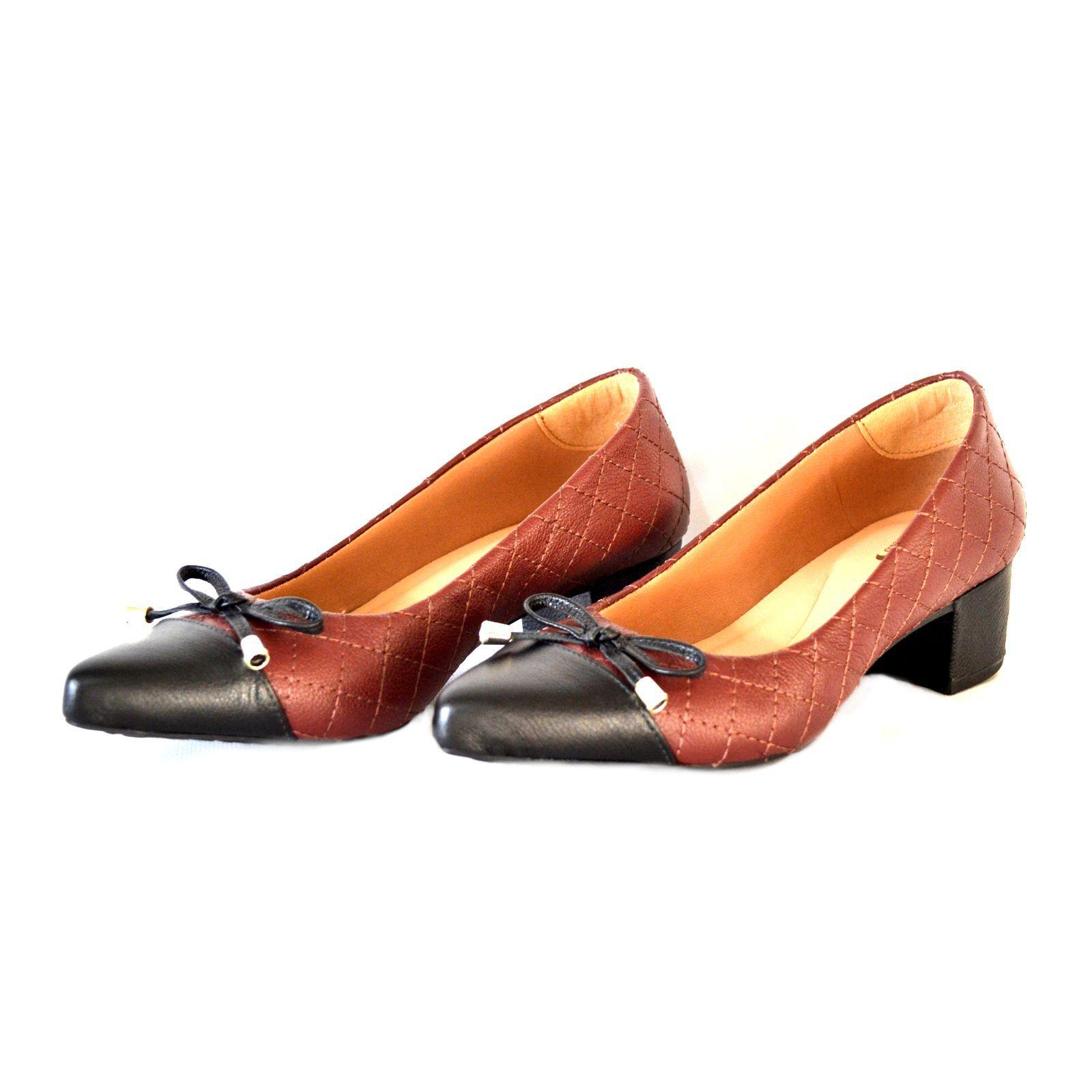 Sapato Feminino  Prata Couro 1009797 Marsala