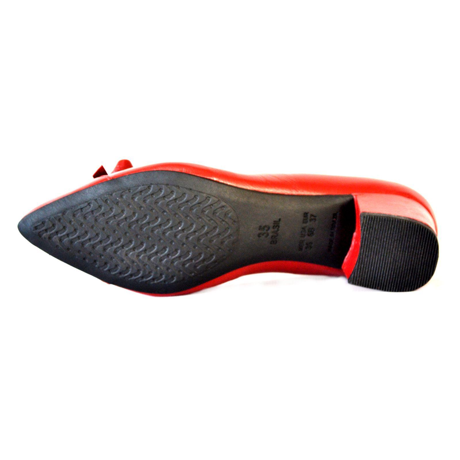 Sapato  Prata Couro 1009798 Vermelho