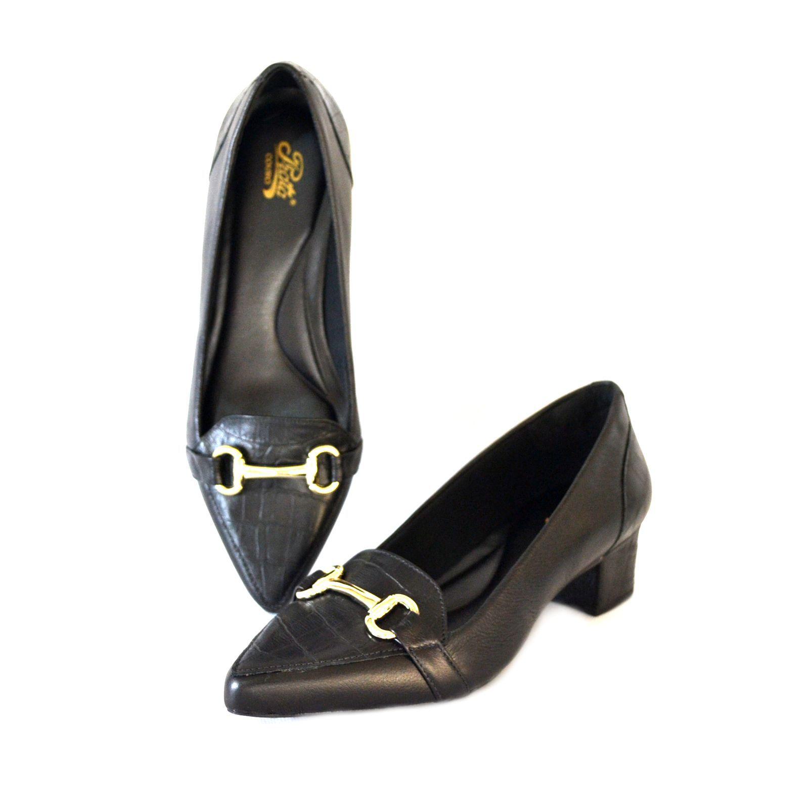 Sapato  Prata Couro 1009800 Preto
