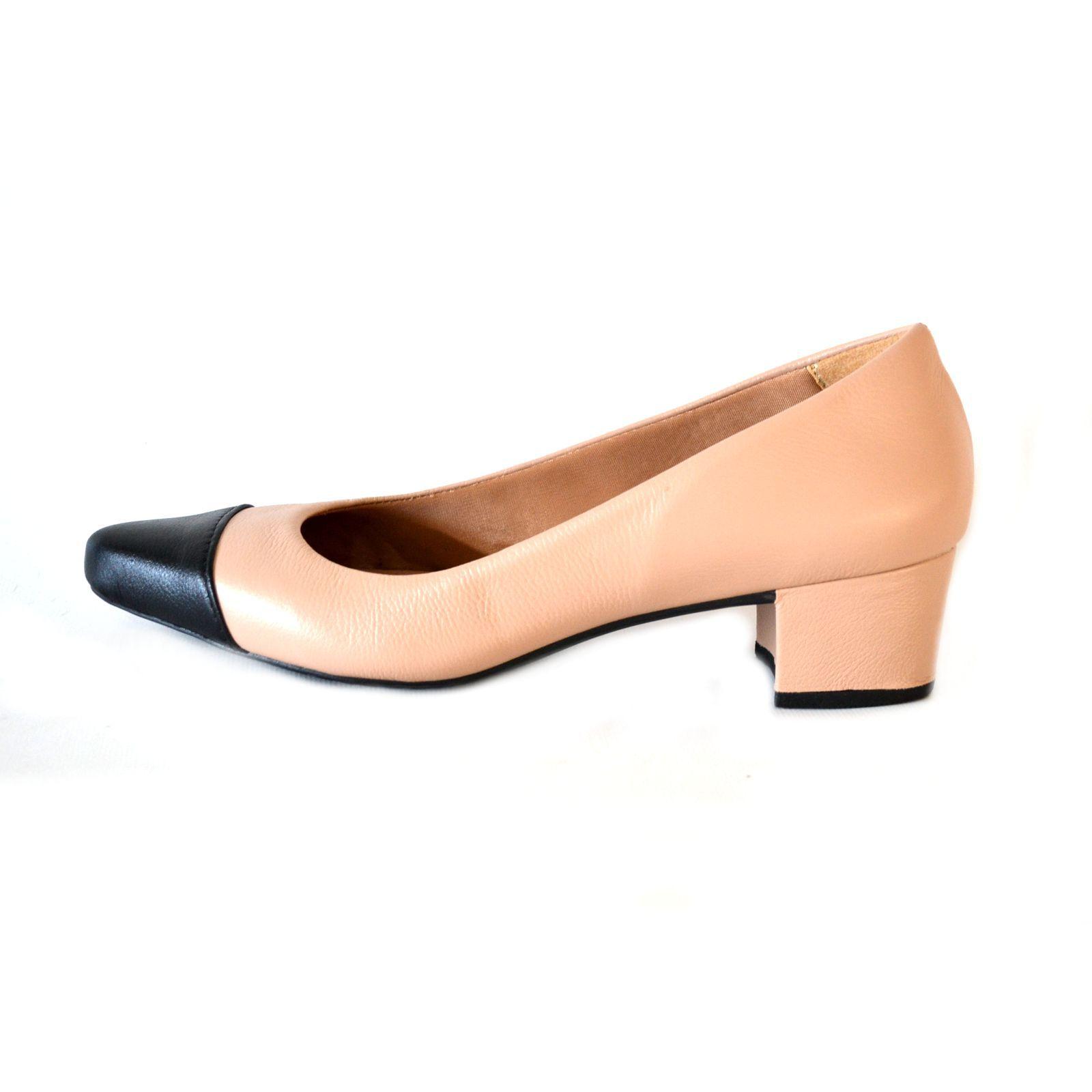 Sapato  Prata Couro 1009799 Nude