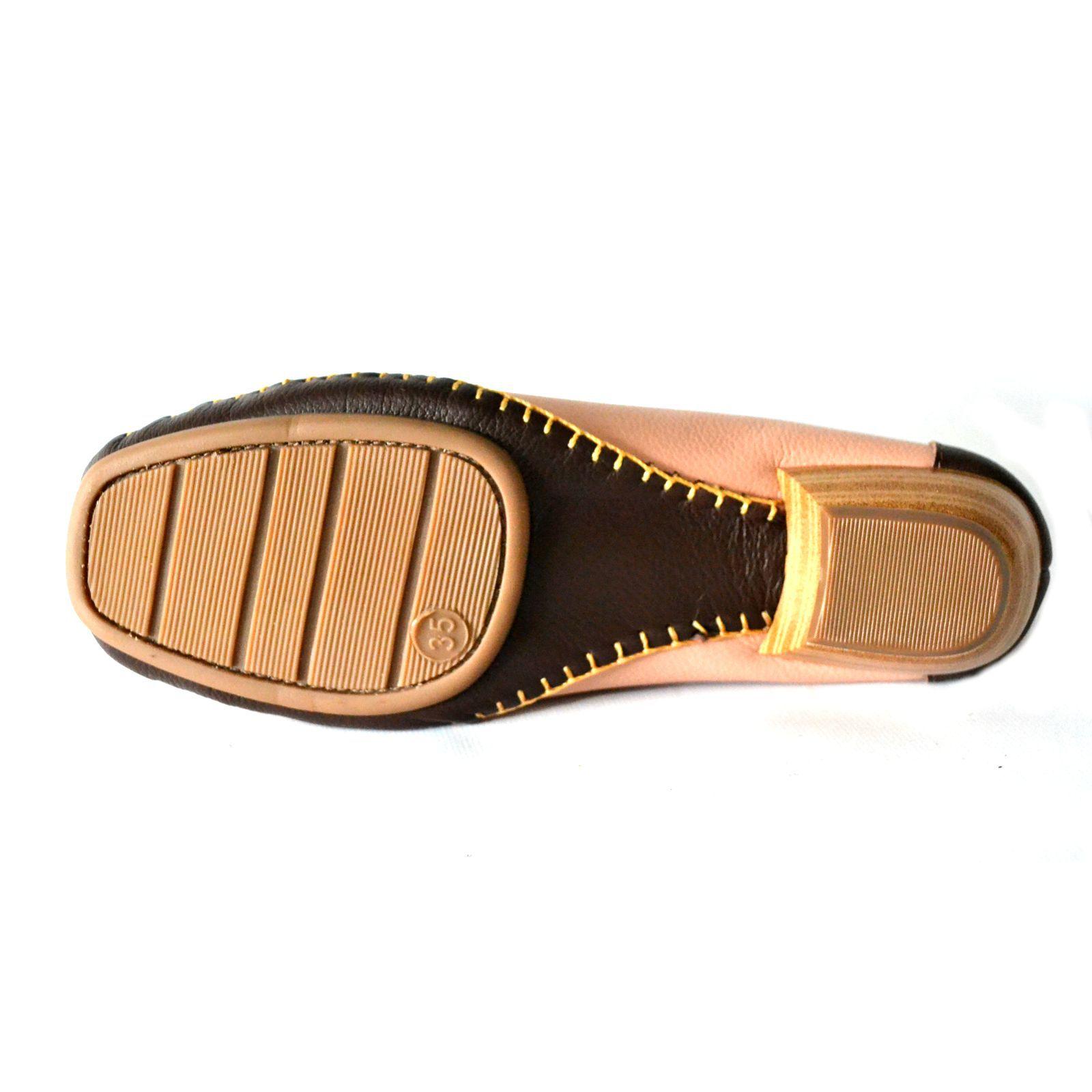 Sapato Prata Couro Conforto 1009805 Nude/Café