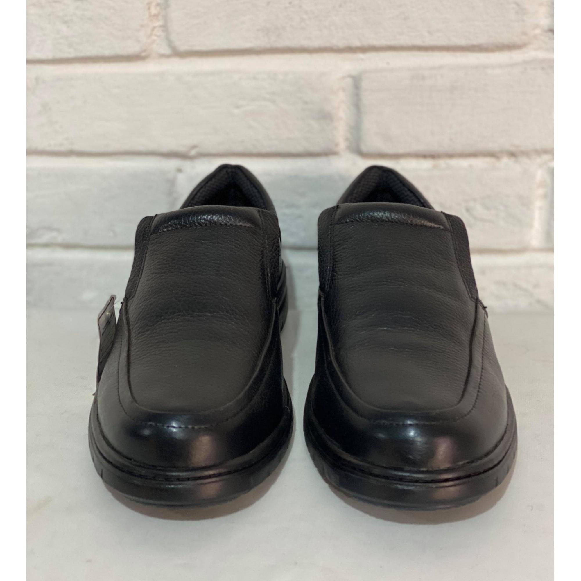 Sapato Prata Couro Preto 1009955