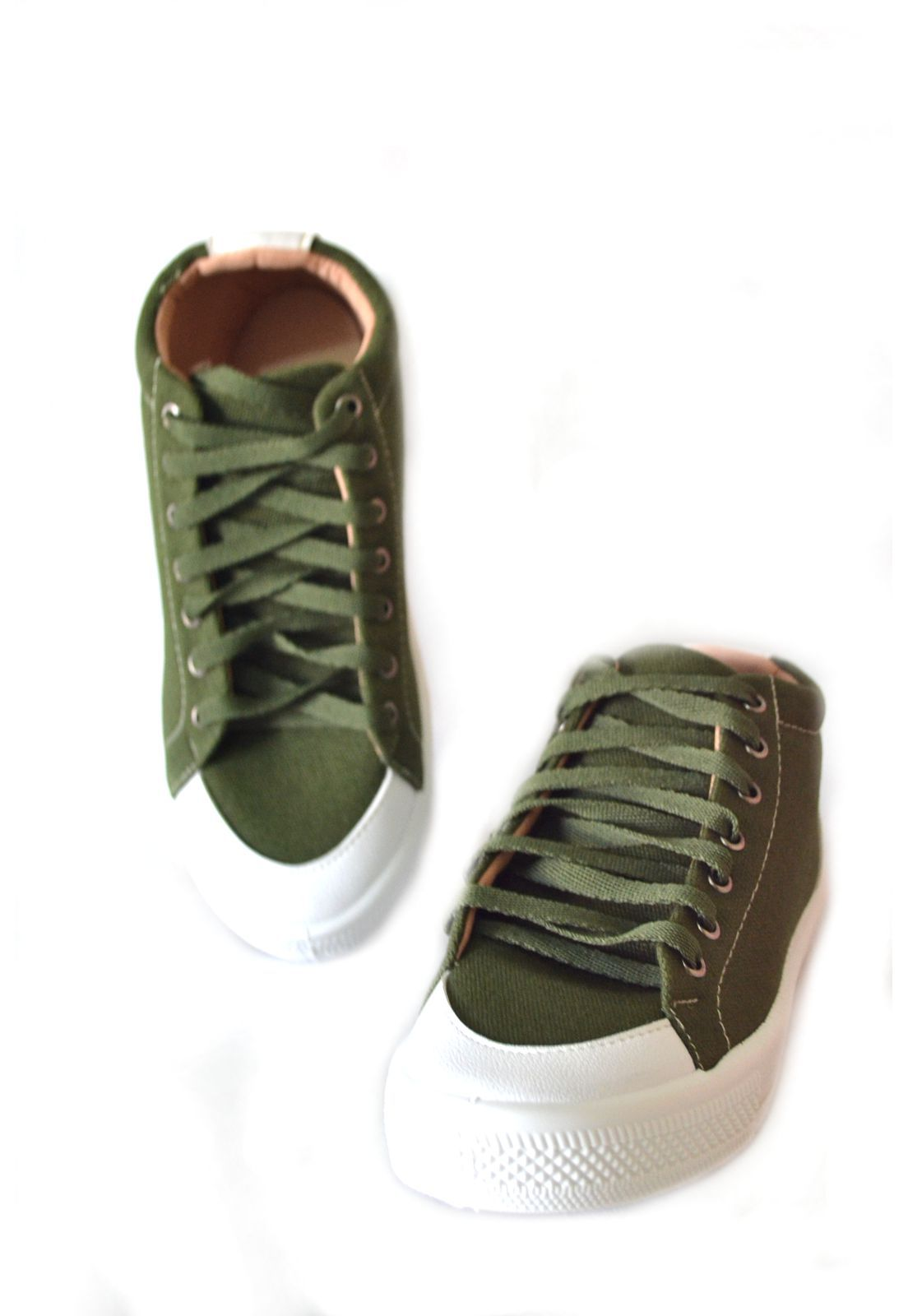 Tênis Feminino Botinha  Byara 1010307 Verde Militar