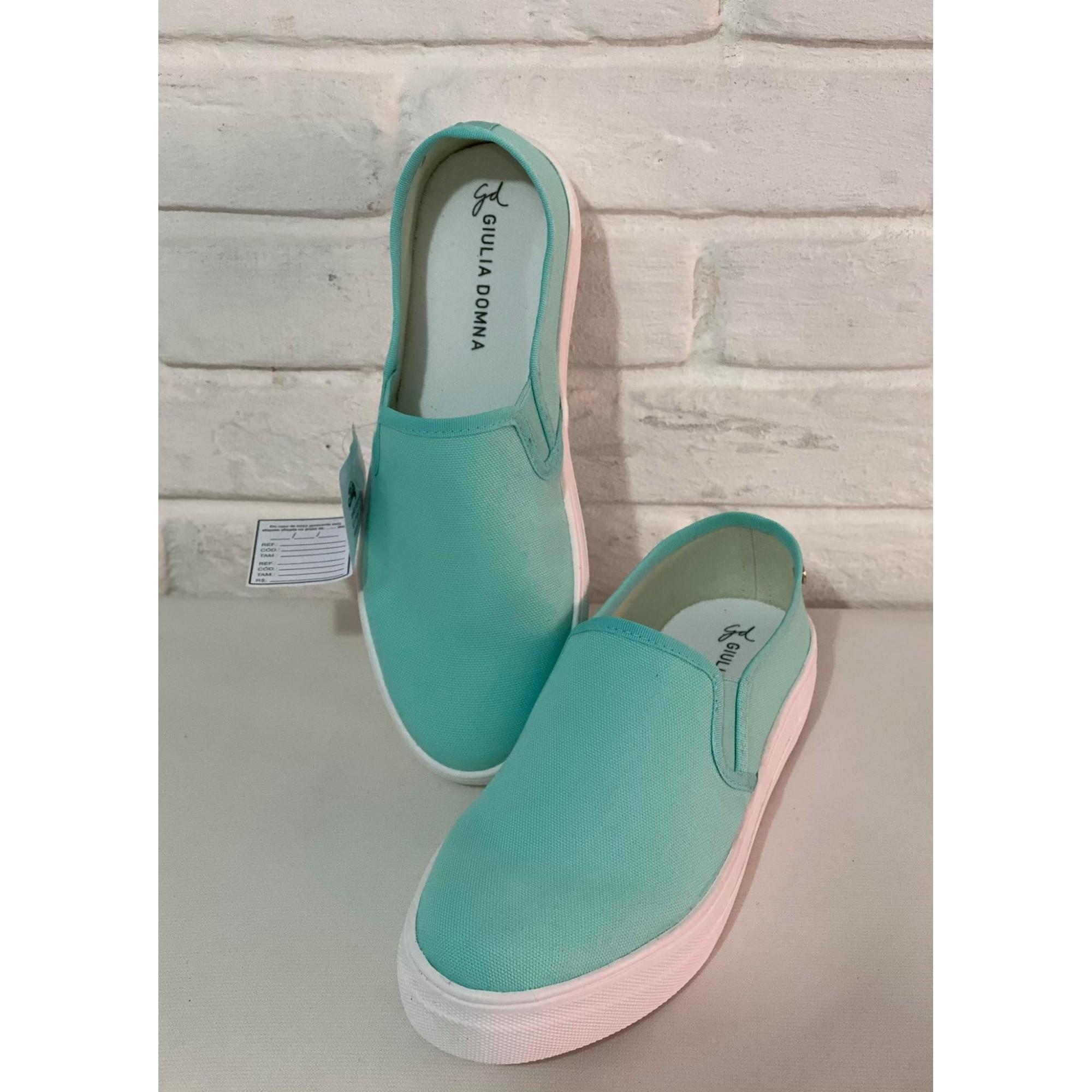 Tênis Feminino Giulia Domna 1010741 Lona Verde Azul Bebê