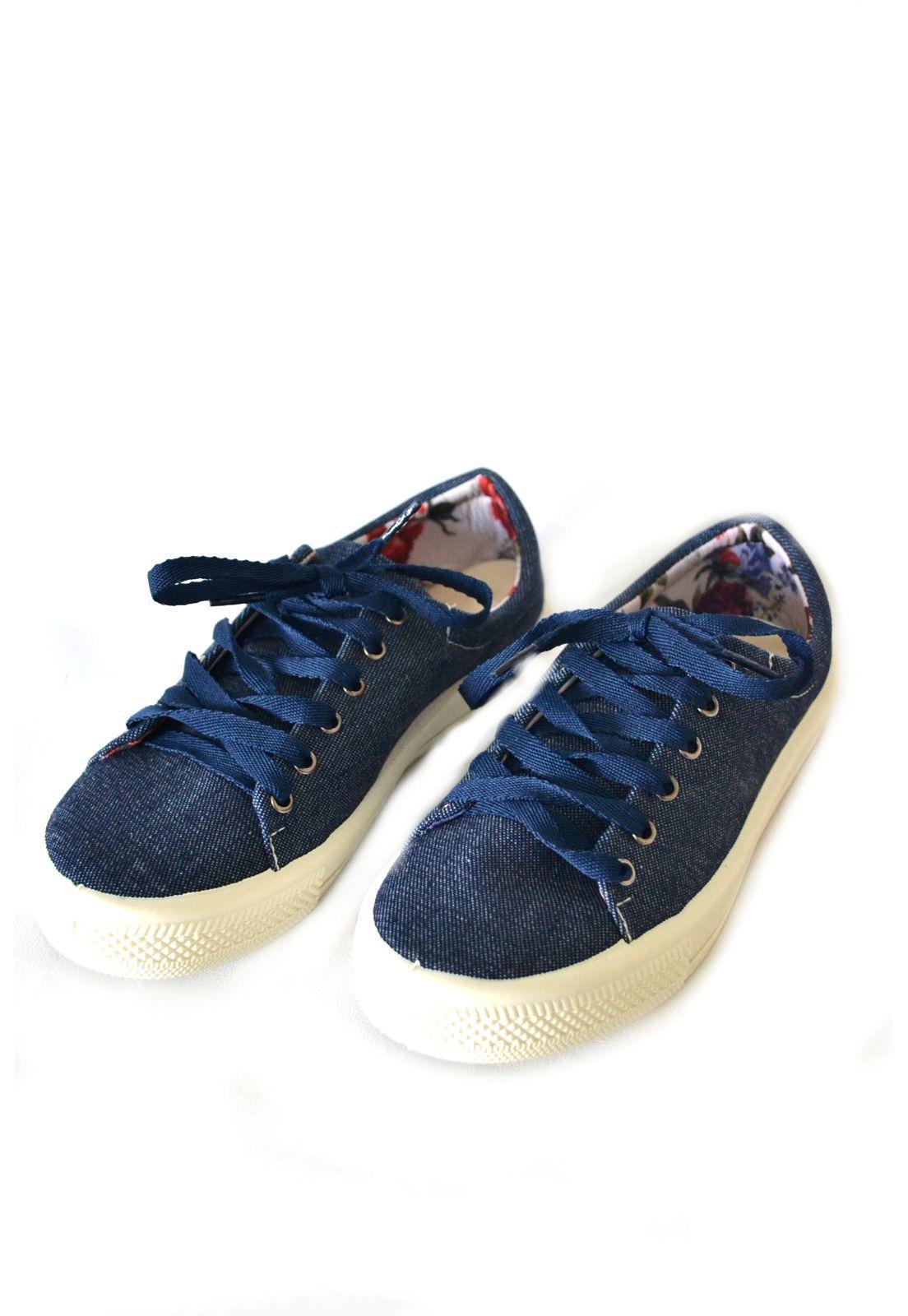 Tênis Feminino Iate  Byara 1010301 Jeans Escuro