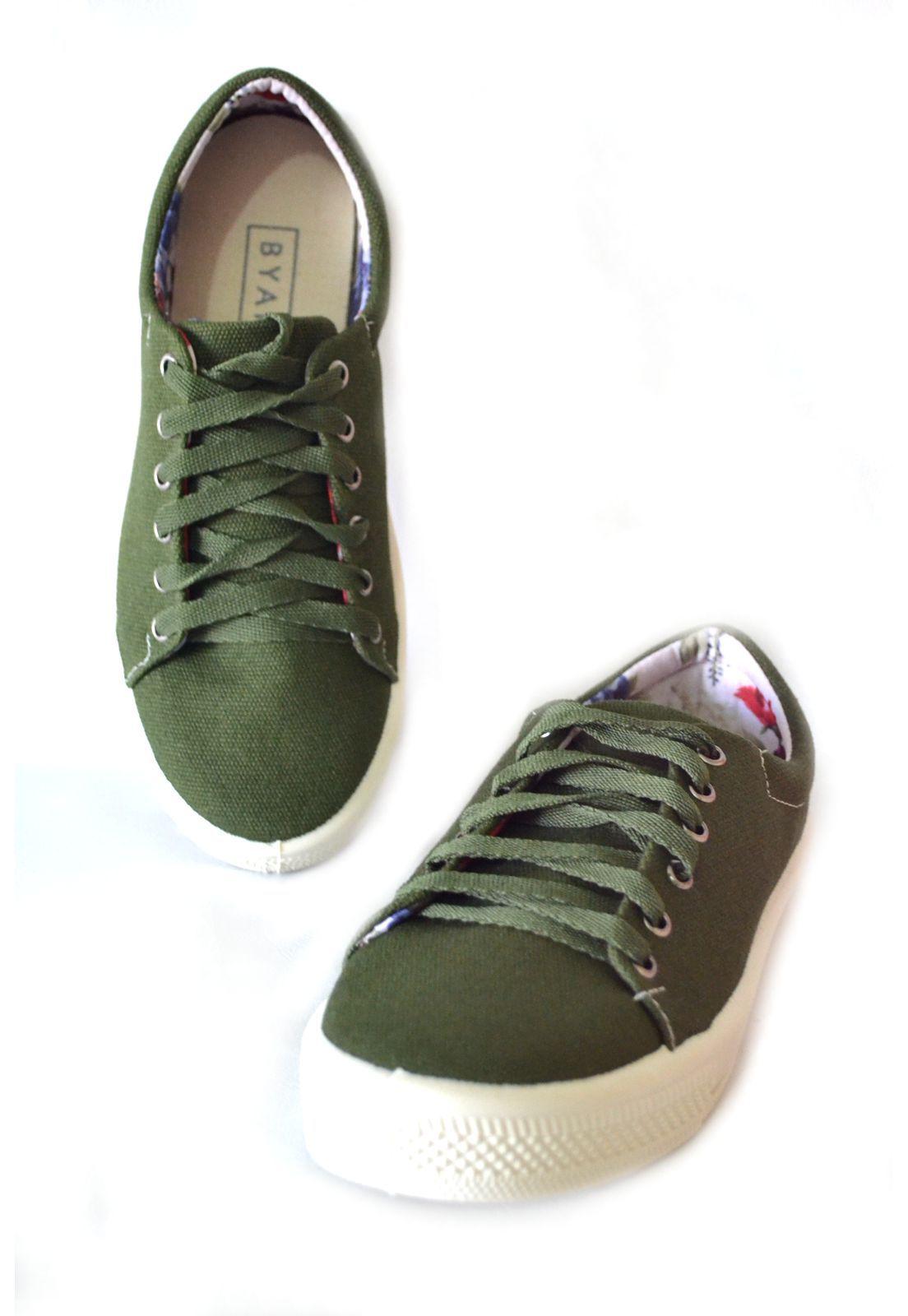 Tênis Iate  Byara 1010306 Verde Militar