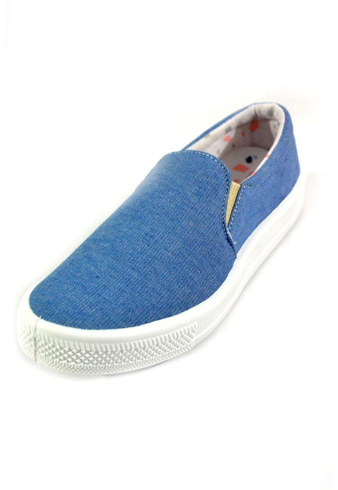 Tênis Iate Lona 1009896 Jeans Claro
