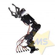 Braço robótico em alumínio com 5 graus de liberdade