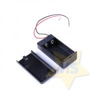 Case para bateria 9V com chave ON/OFF