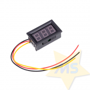 Mini Voltímetro digital de LED dc 0v a 99.9v 0,5