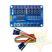 Módulo Display 7 Segmentos 8 dígitos TM1638