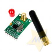 Módulo Nrf905 Wireless Transmissor Receptor com Antena