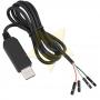 Cabo Adaptador Conversor USB para RS232 e TTL PL2303HX