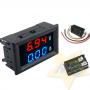 Mini Voltímetro e Amperímetro digital de LED DC 0-100 V 0-10A