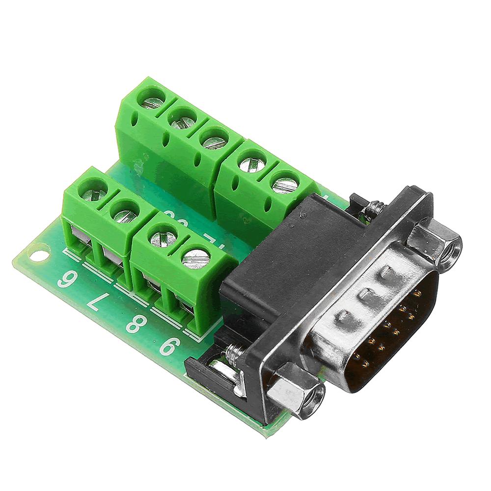 Adaptador DB9 Serial RS232 Macho com Borne