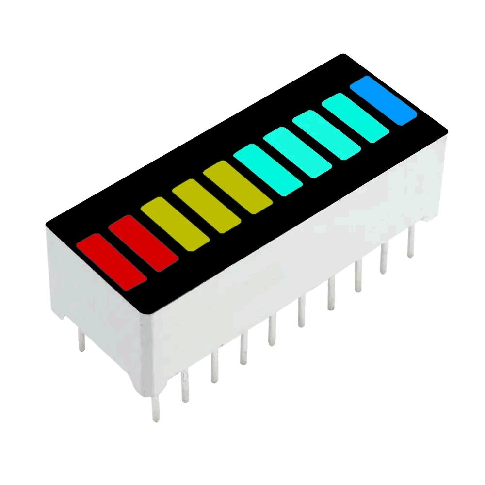 Barra De Leds 10 Segmentos Bargraph 4 cores