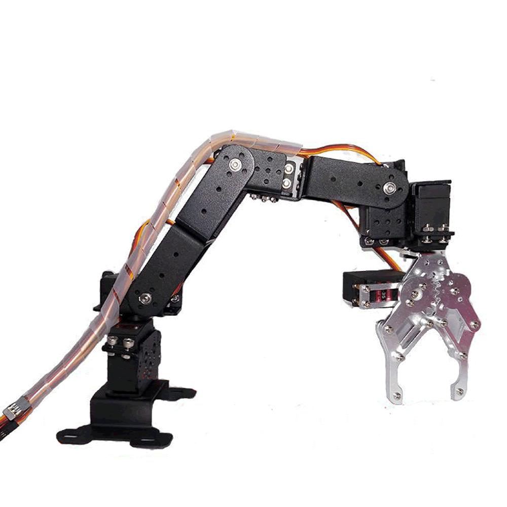 Braço robótico em alumínio com 6 graus de liberdade