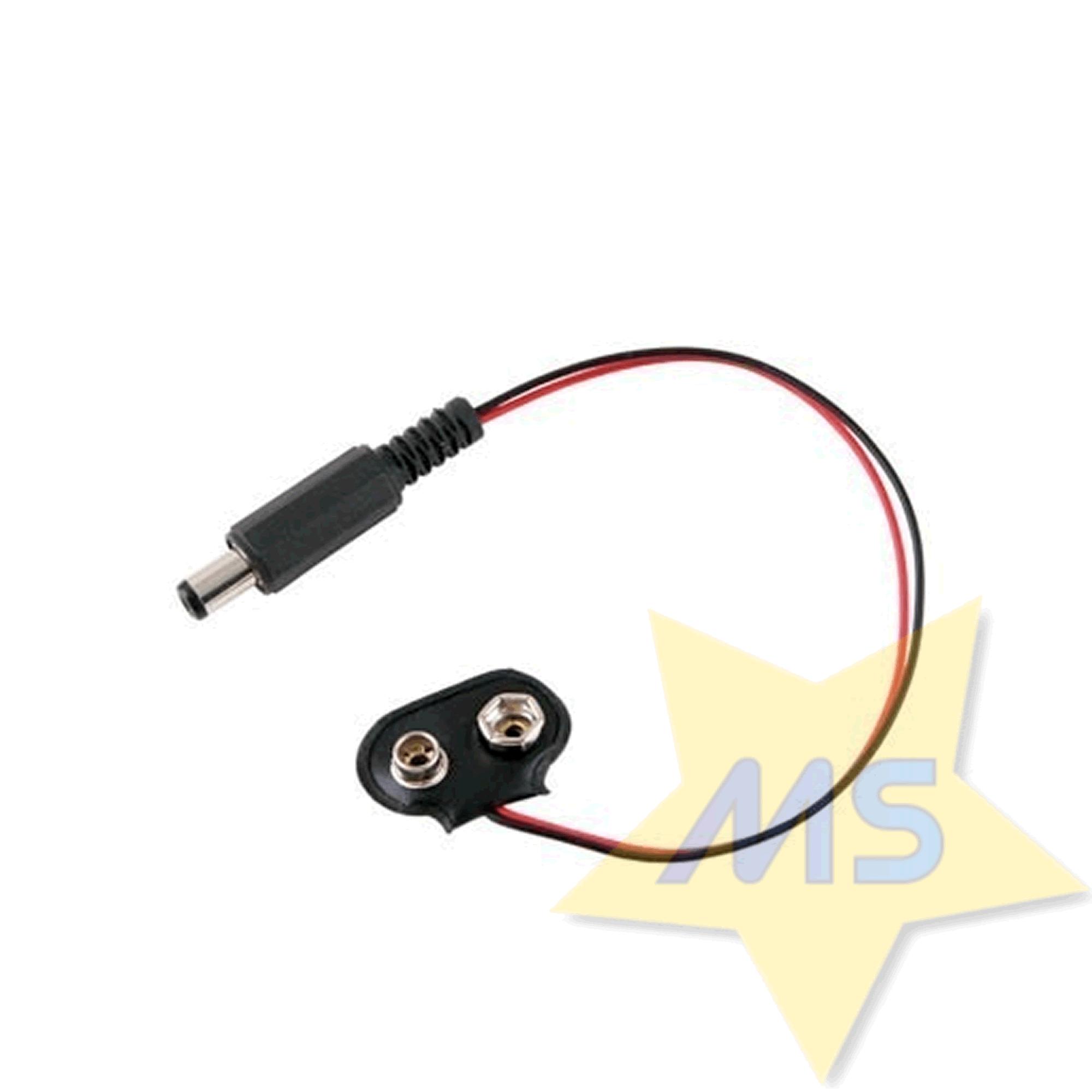 Cabo adaptador Bateria 9V com plug P4