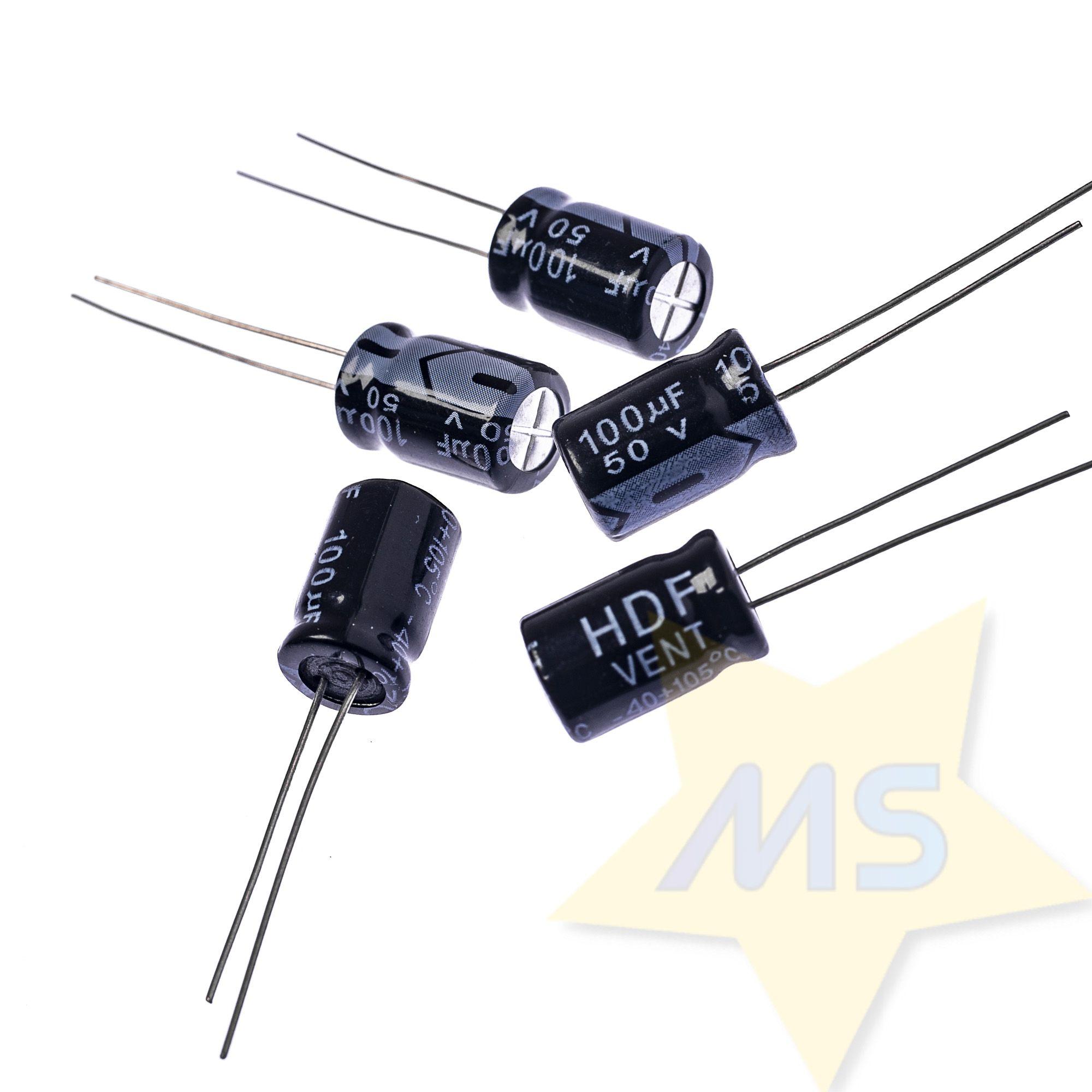 Capacitor Eletrolitico 100uF 50V