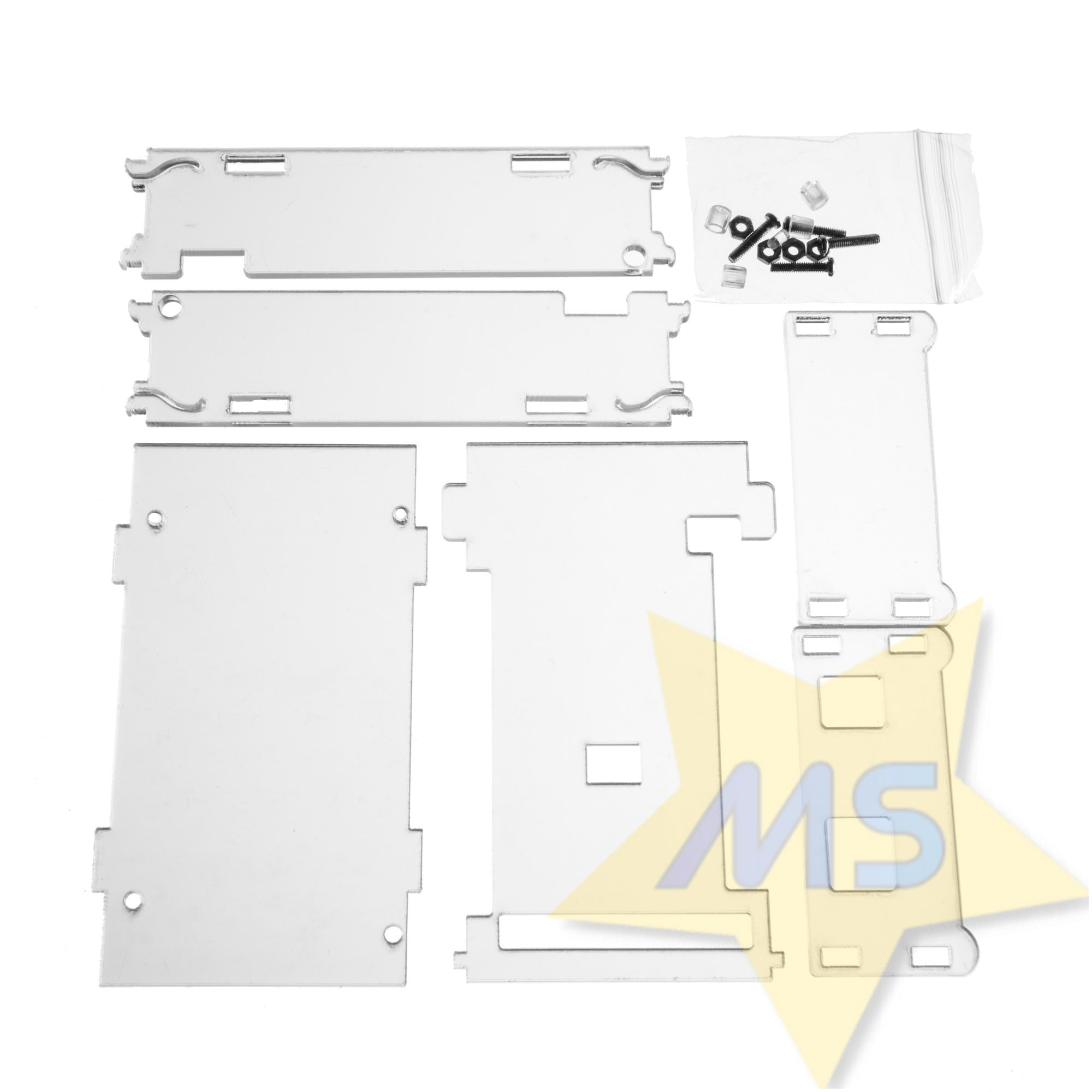 Case de Acrílico transparente Arduino Mega s/ parafuso