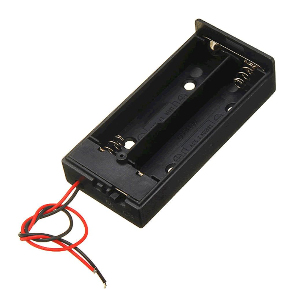 Case para 2 Baterias 18650 com chave ON/OFF