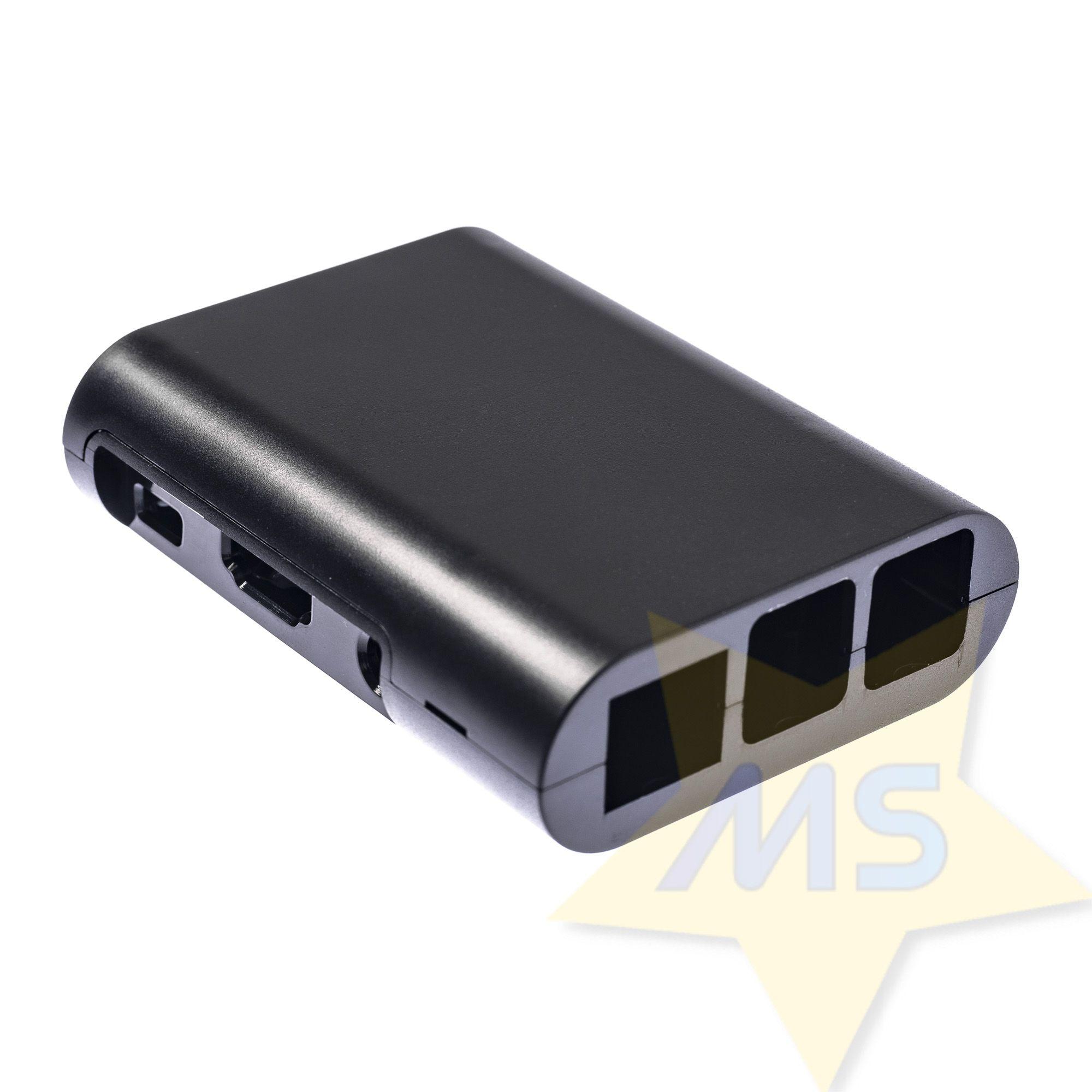Case Raspberry Pi 2 3 B+ Preto ABS