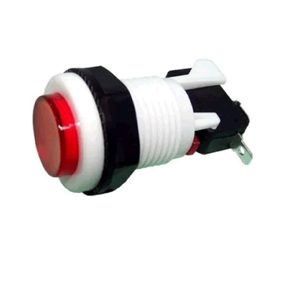 Chave Botão Push Button PBS-29 Vermelho