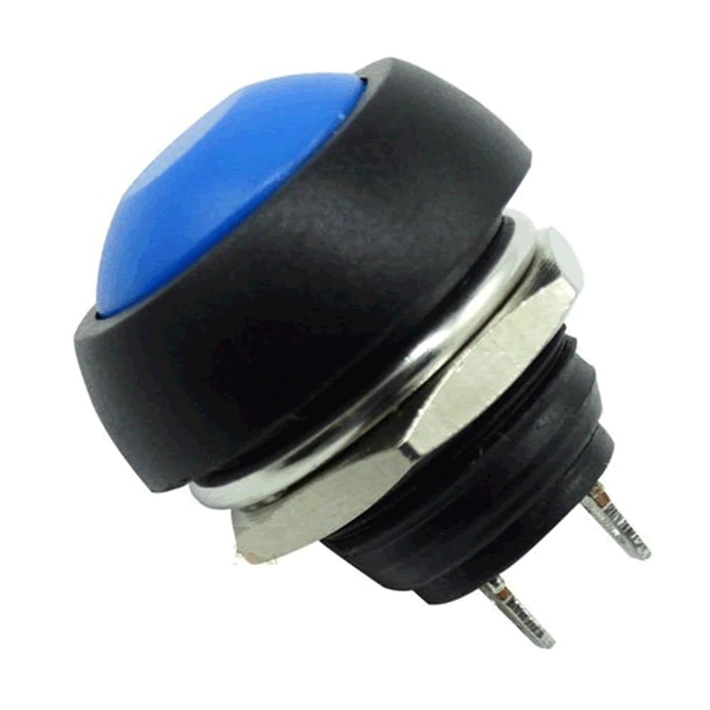 Chave Botão Push Button PBS-33B Azul