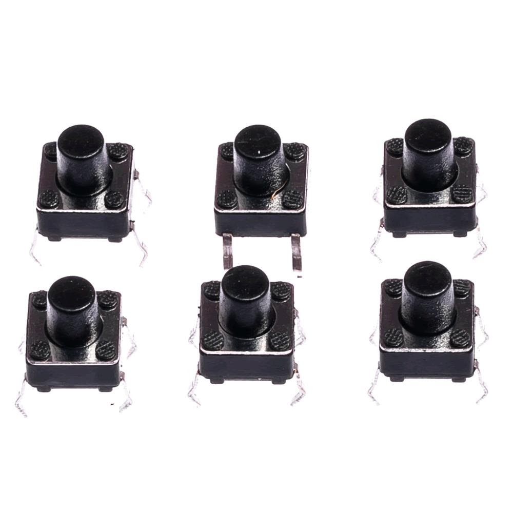 Chave Táctil 4 terminais 6X6X7 ( 10pçs )