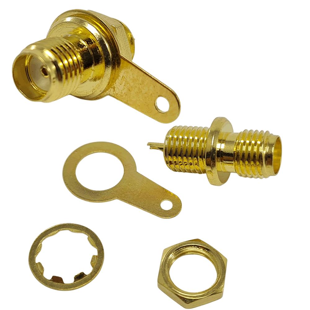 Conector adaptador SMA Fêmea para montagem painel