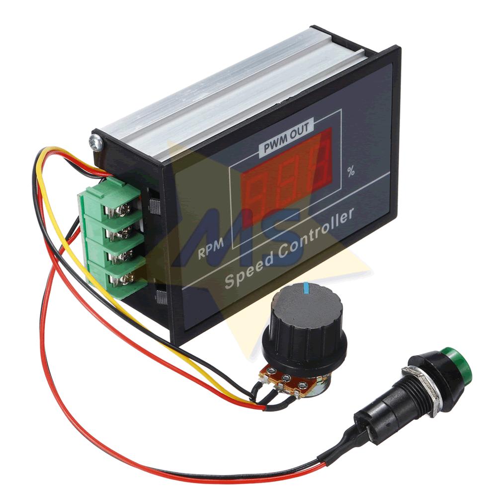 Controlador PWM para Velocidade de Motor 30A com Display