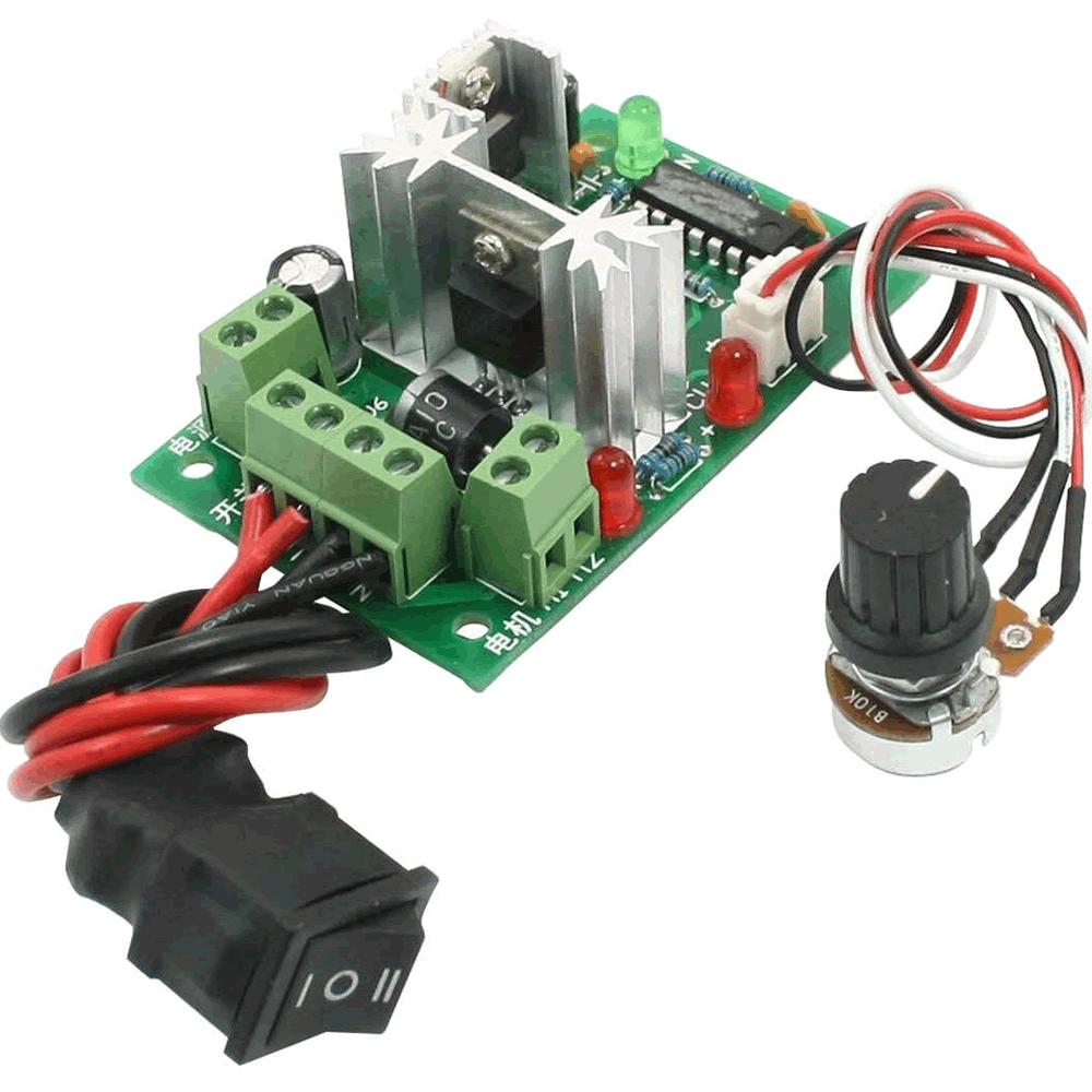 Controlador PWM para Velocidade de Motor 6A Reversível