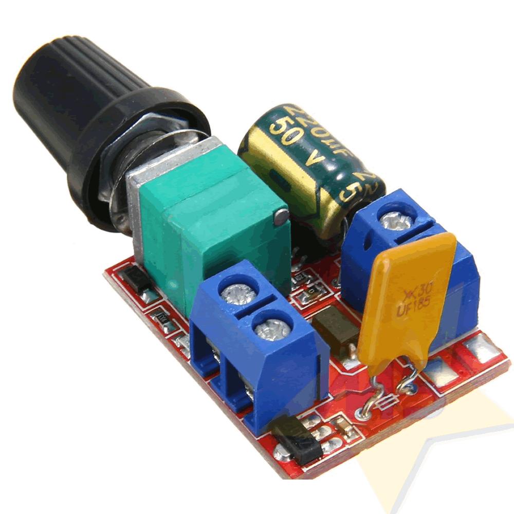 Controlador PWM para Velocidade de Motor 5A