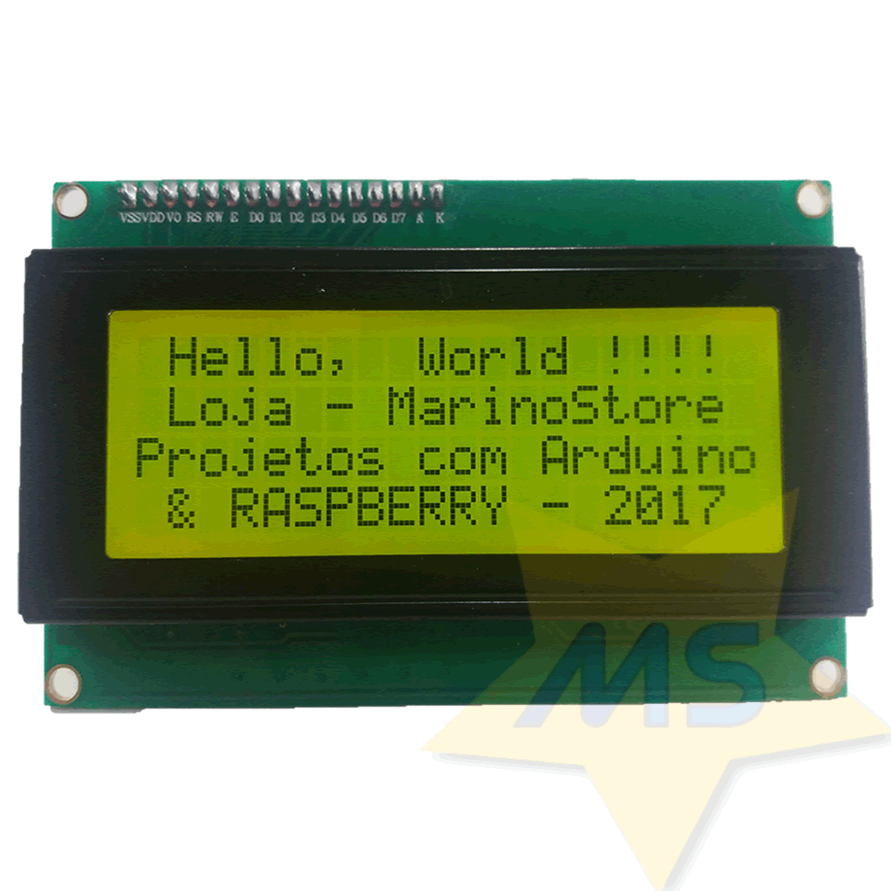 Display LCD amarelo 2004 20x4