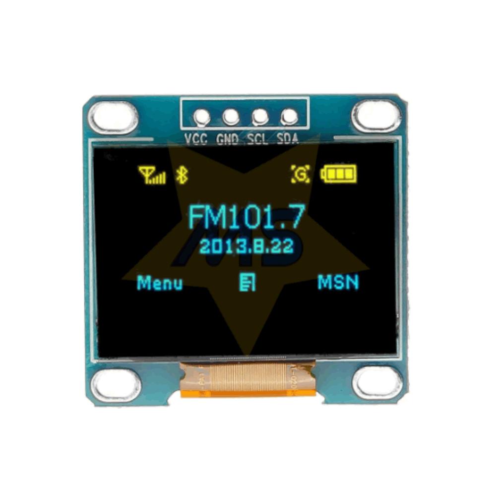 Display OLED 0.96 I2c Azul e Amarelo