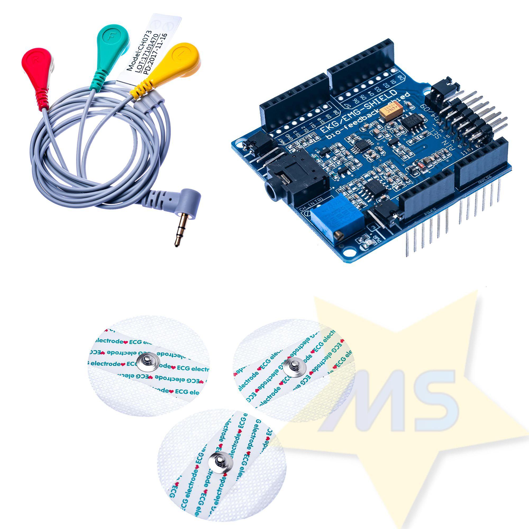 ECG-EMG Arduino Shield (Bio-feedback Sensor)