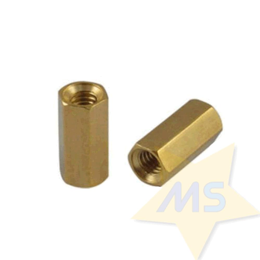 Espaçador sextavado latão M3x10 mm