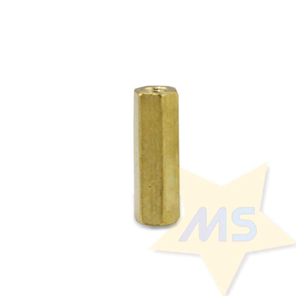 Espaçador sextavado latão M3x15 mm