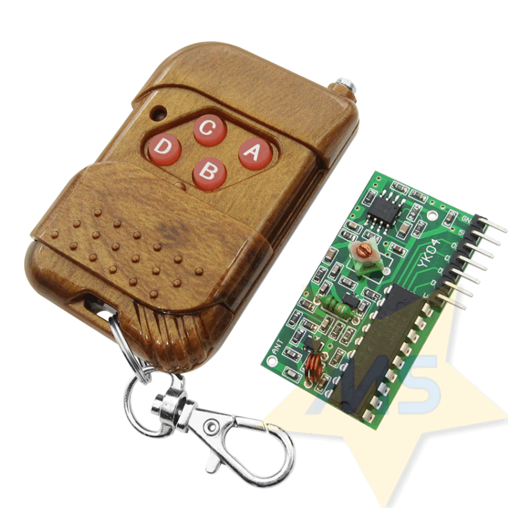 Kit Controle Transmissor 4 canais RF 315Mhz