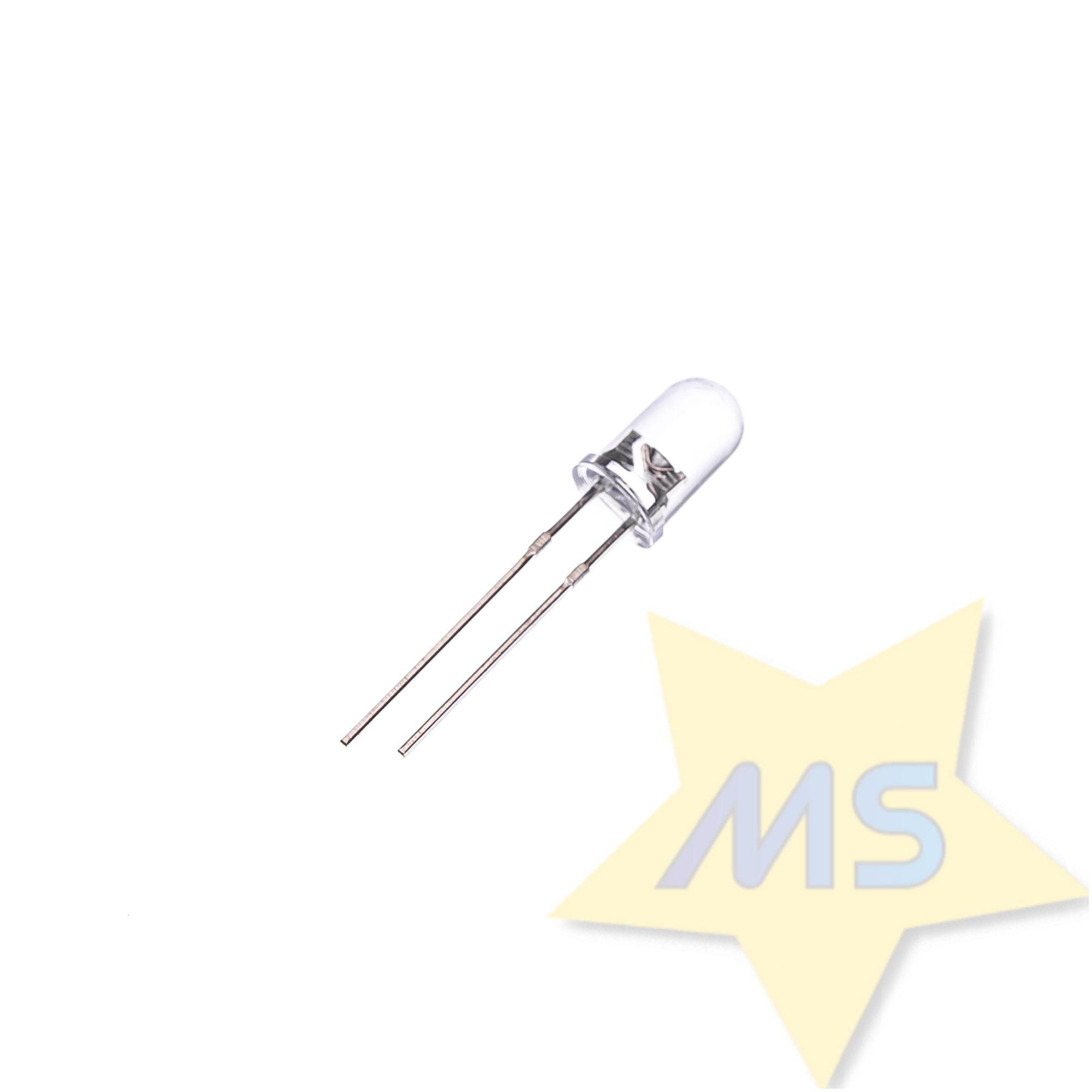 LED Branco transparente Alto brilho 5mm