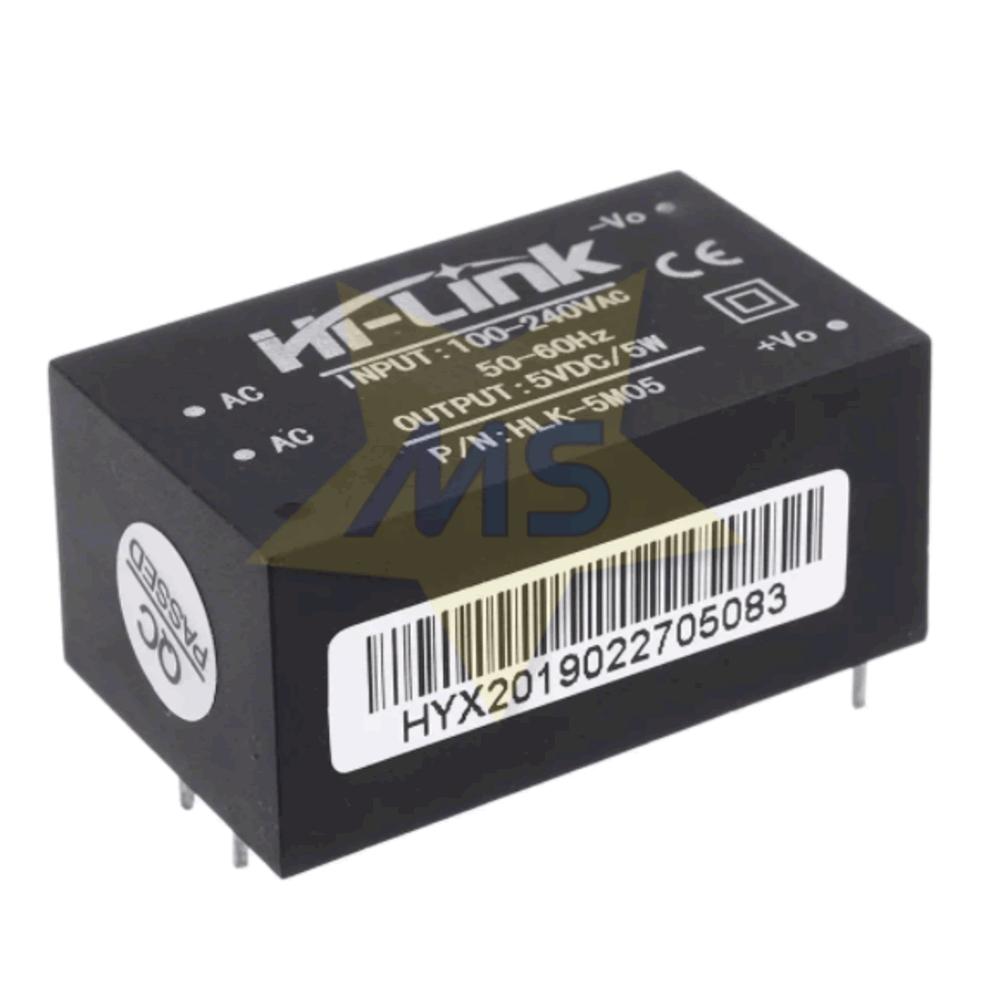 Mini Fonte HLK-5M05 100-240VAC para 5VDC 5W