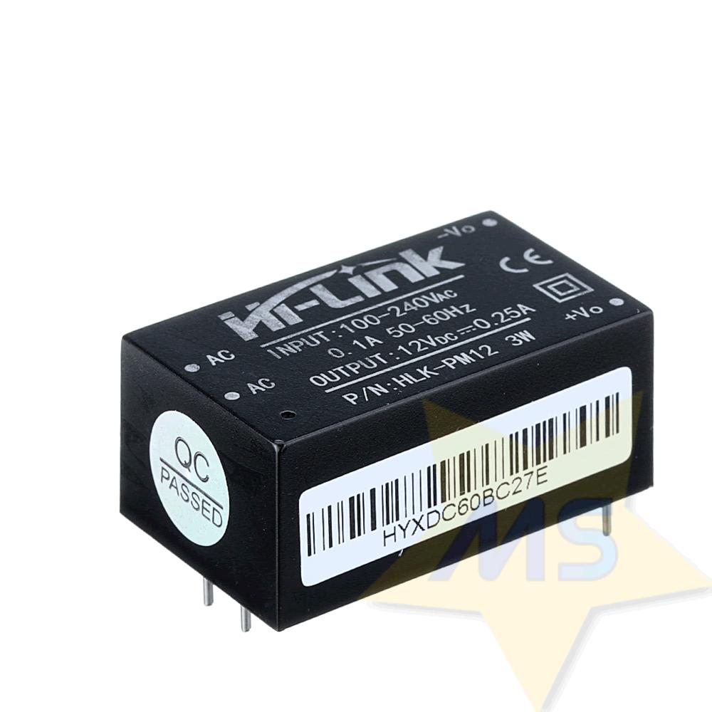 Mini Fonte HLK-PM12 100-240VAC para 12VDC 3W