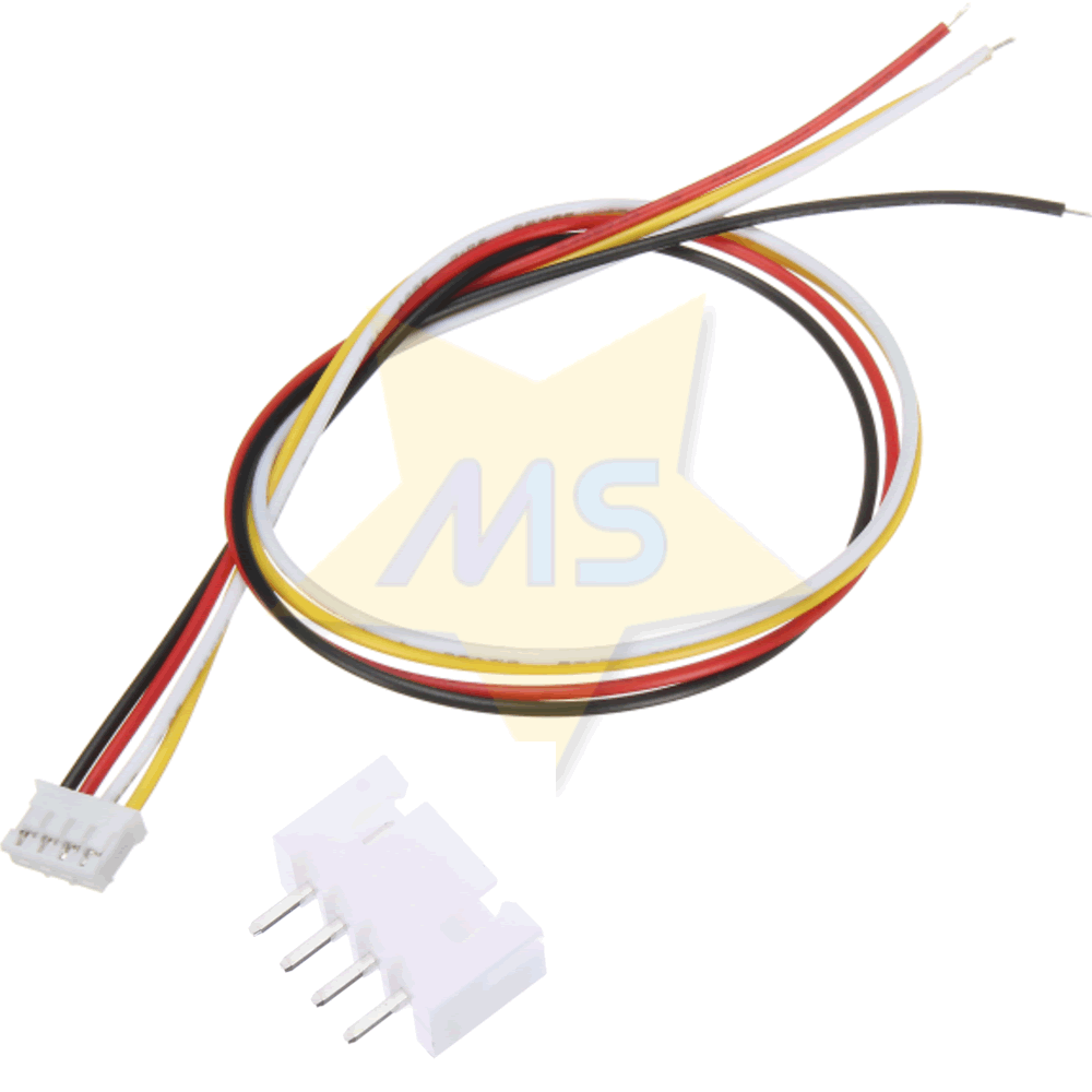 Mini Micro Conector JST XH 4 Vias 2.54mm