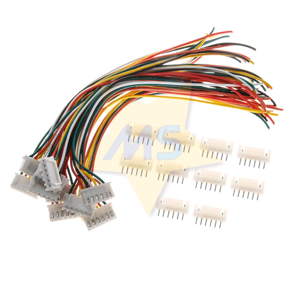 Mini Micro Conector JST XH 6 Vias 2.54mm